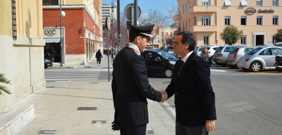 Il Prefetto in visita al Comando provinciale dei Carabinieri di Latina