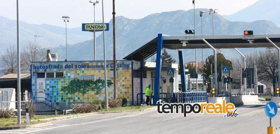 A1, casello autostradale di Cassino chiuso per lavori