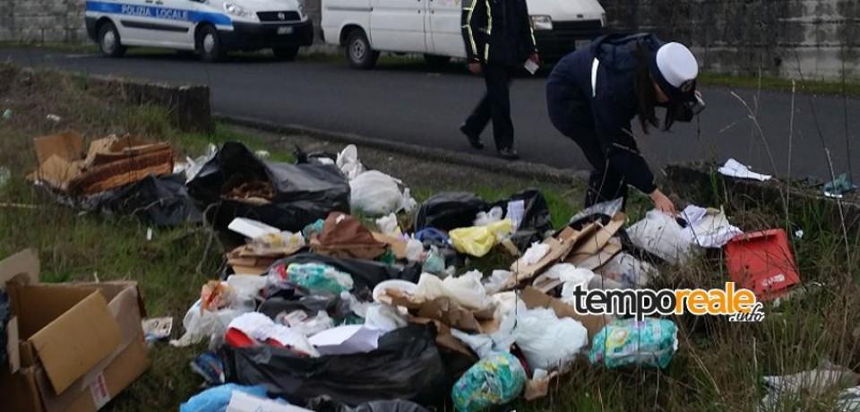 Abbandono di rifiuti sulla Superstrada Cassino-Formia: denunciato il trasgressore