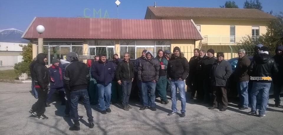 Cassino / I lavoratori della Cma Srl tornano a scioperare