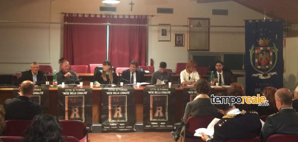 Formia / Presentata la relazione dell'Osservatorio per la Legalità e la lotta alle mafie