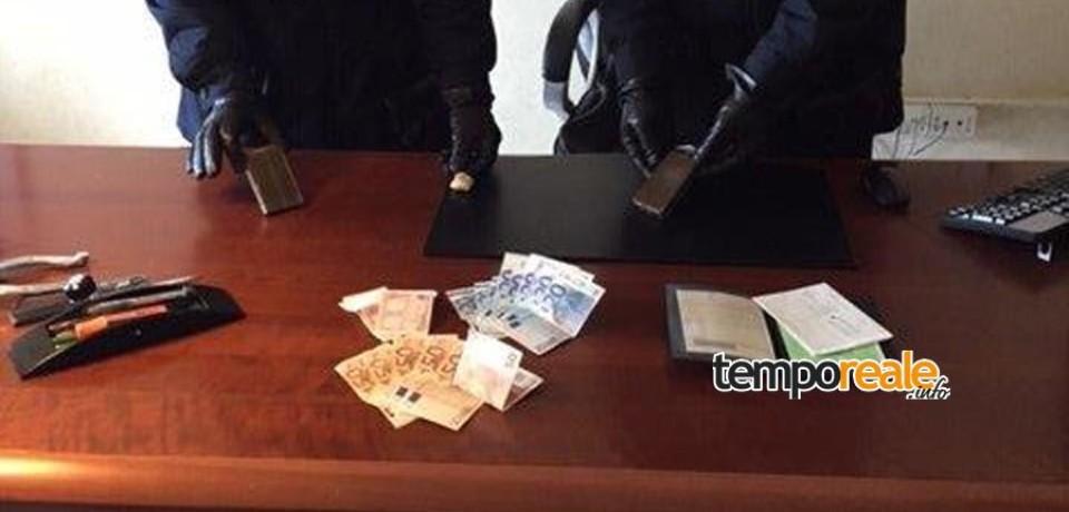 Minturno / Presi con oltre 200 grammi di hashish, due arresti per spaccio
