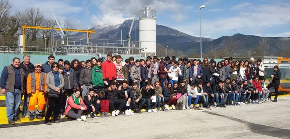Villa Santa Lucia / Cento studenti di Cassino in visita all'impianto di depurazione Consilam