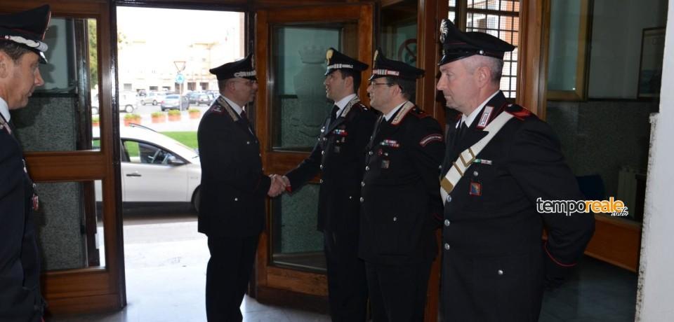 Latina / Visita del Generale Angelo Agovino al Comando provinciale dei Carabinieri