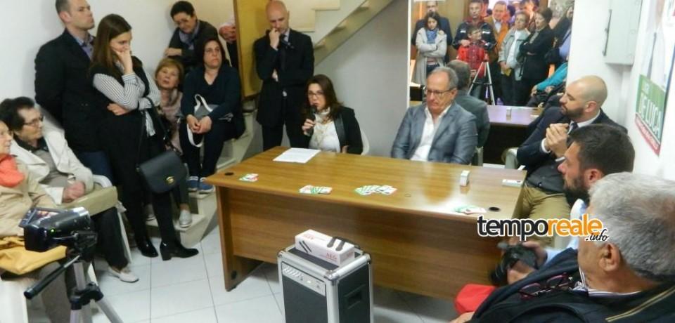 Fondi / De Luca e Panella inaugurano il point elettorale