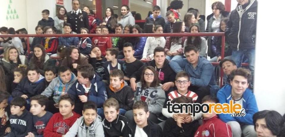 """Sant' Elia Fiumerapido/ Bullismo, alcool e droga i temi trattati dall'Arma dei Carabinieri ai ragazzi della scuola media """"Santilli"""""""