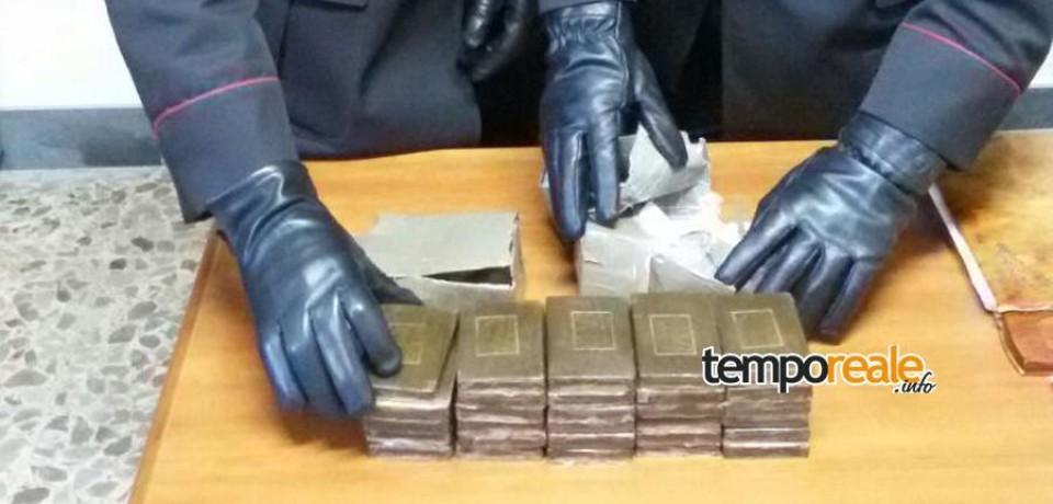 Castelforte / Preso con oltre 3 chili di hashish, arrestato pusher di 30 anni