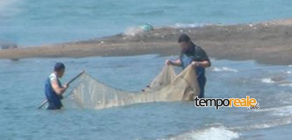 Pesca di frodo alla foce del Garigliano: i pesci portati nel Nord Italia