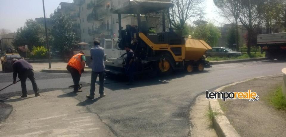 Cassino/ Proseguono i lavori di manutenzione delle strade