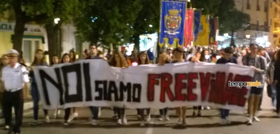 Formia / Oltre mille in strada per l'omicidio di Mario Piccolino
