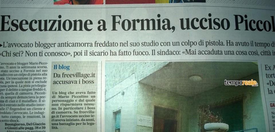 """Formia / Omicidio Piccolino, """"Shine on"""" crazy Mario"""