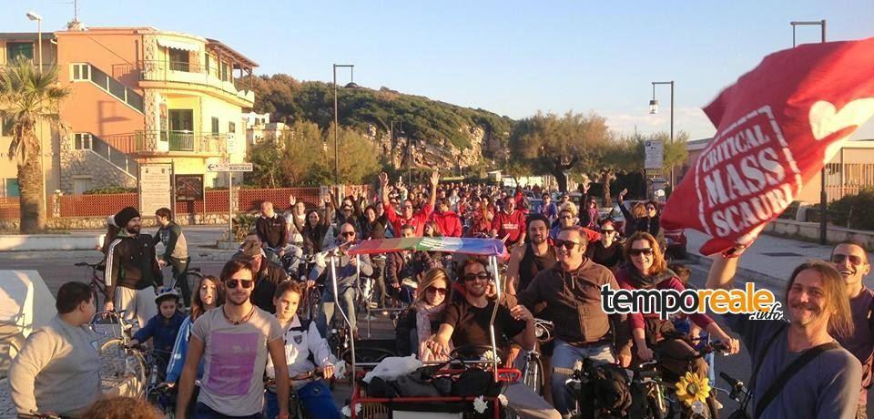 Scauri / Tre anni di bici: Critical Mass festeggia con una pedalata collettiva