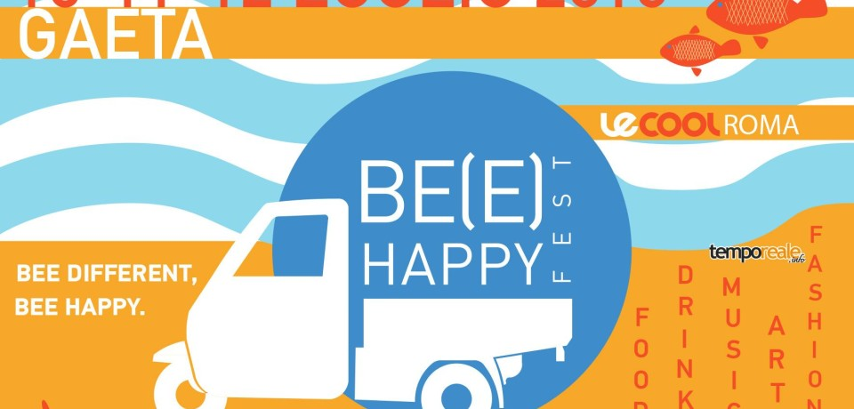 Gaeta / Be(e) Happy Fest Summer Edition, a Serapo la prima tappa del festival di street food e urban world