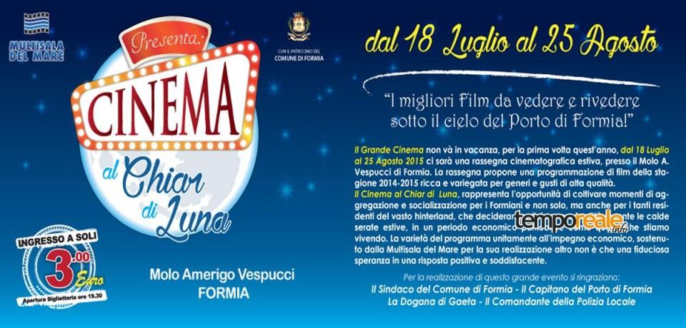 """Formia / Al porto la rassegna estiva """"Cinema al Chiar di Luna"""""""