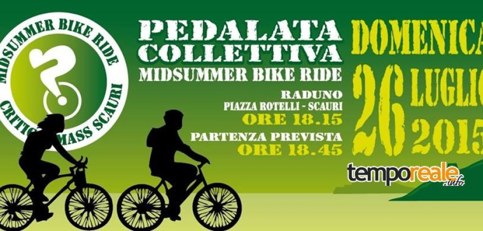 Minturno / Critical Mass torna con una nuova pedalata collettiva, la Midsummer Bike Ride