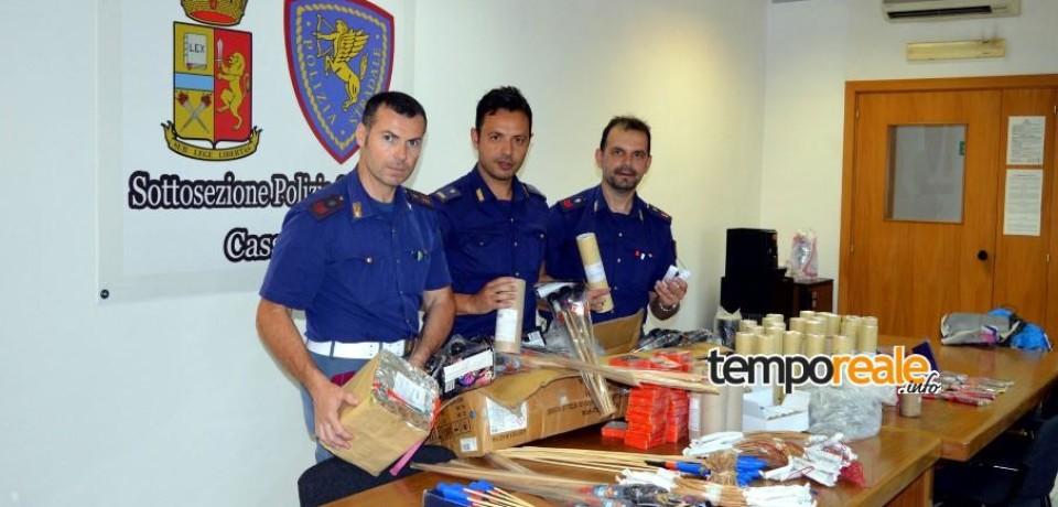Cassino / In viaggio con fuochi d'artificio illegali, denunciato 40enne di Benevento