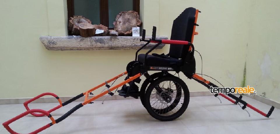 Parco Riviera di Ulisse, sentieri a prova di disabile con le nuove K-Bike