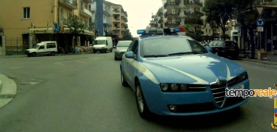 Cassino / La Polizia blocca la corsa di due fuggitivi