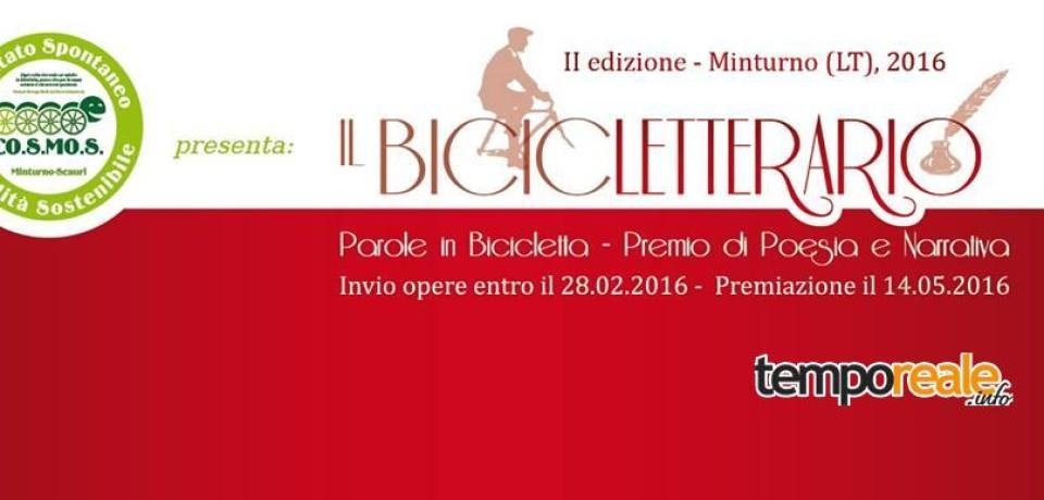 Minturno / Torna il Bicicletterario, II edizione del premio nazionale di narrativa dedicato alla bicicletta