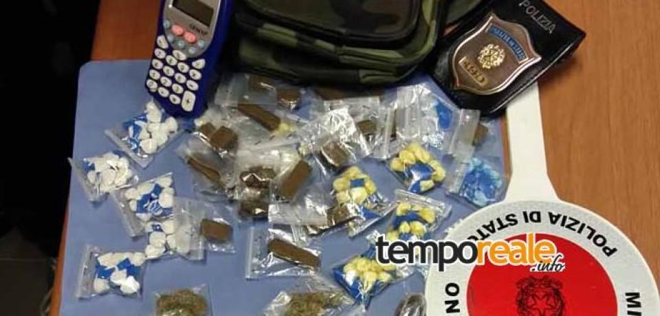 Frosinone / Arrestato spacciatore con dosi di cocaina, hashish e marijuana per un valore di circa 7.000 euro