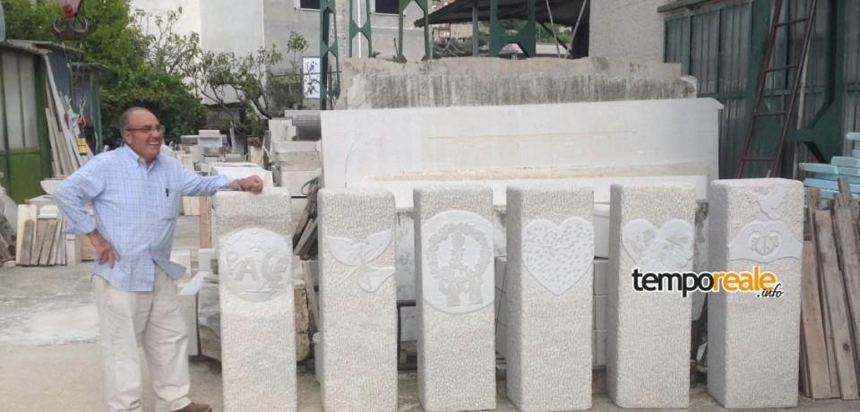La Memoria continua a scegliere il marmo di Coreno  per rappresentare la guerra passata e il tema della Pace