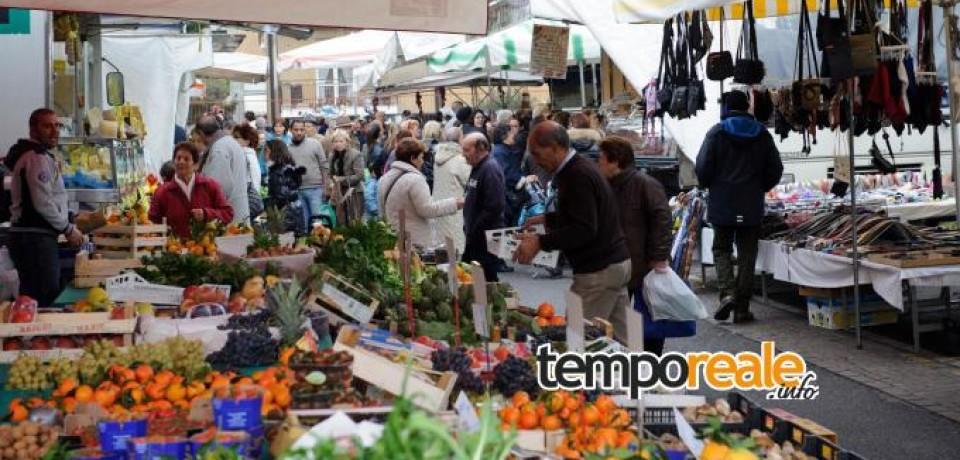 Fondi / Domenica 1° maggio il mercato settimanale si svolgerà regolarmente