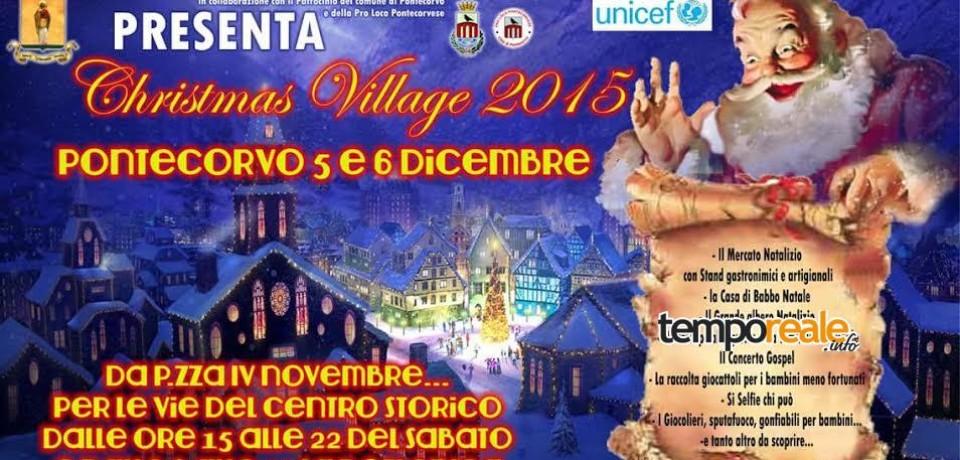 Pontecorvo / Sabato il via al Christmas Village 2015