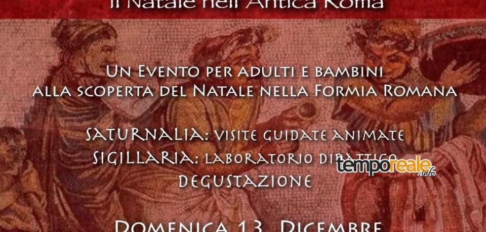 """Formia / Saturnalia, il """"Natale"""" degli antichi romani al Parco Riviera di Ulisse"""
