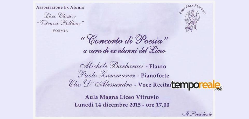 """Formia / """"Concerto di Poesia"""", lunedì l'evento al Liceo Classico """"Vitruvio Pollione"""""""