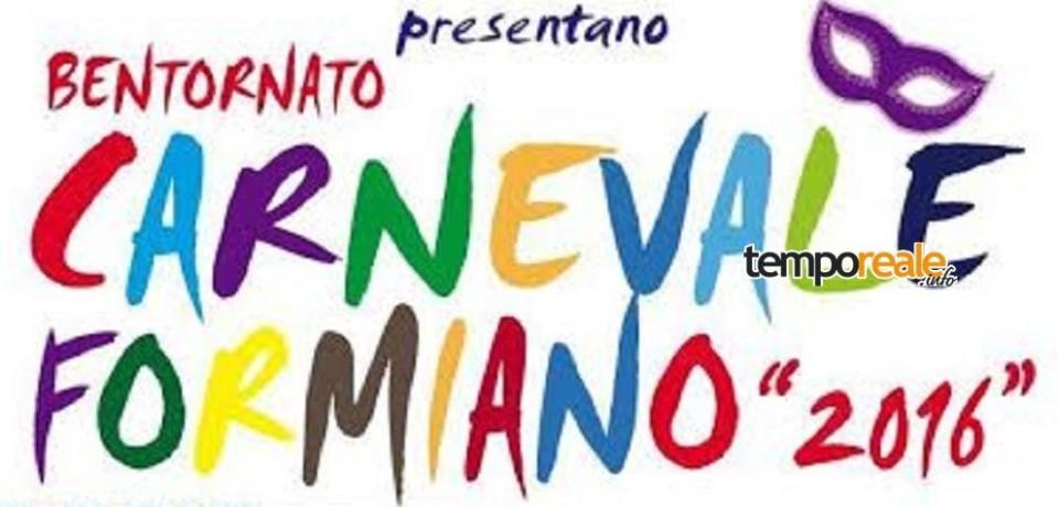 """Formia / Sabato, domenica e martedì torna l'allegria del """"Carnevale Formiano"""""""