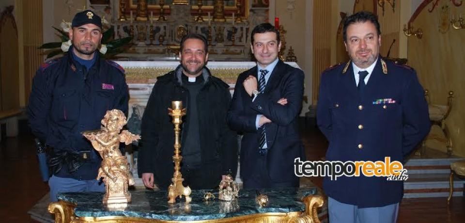 Cassino / Furti sacrileghi, restituiti oggetti sacri a due chiese