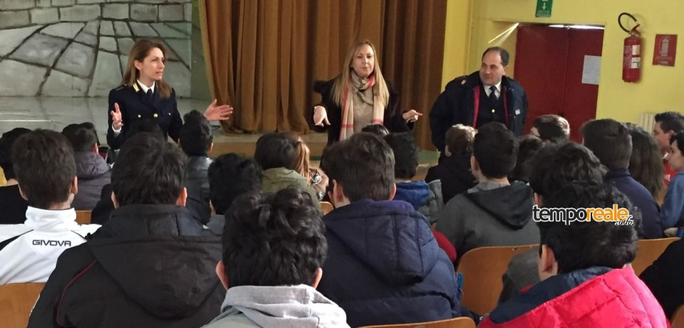 """Cassino / A scuola di legalità, la Polizia incontra gli studenti dell'Istituto """"G. Di Biasio"""""""