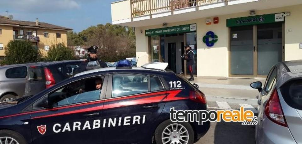 Terracina / Furto in banca a Borgo Hermada, arrestato un 37enne di Roma