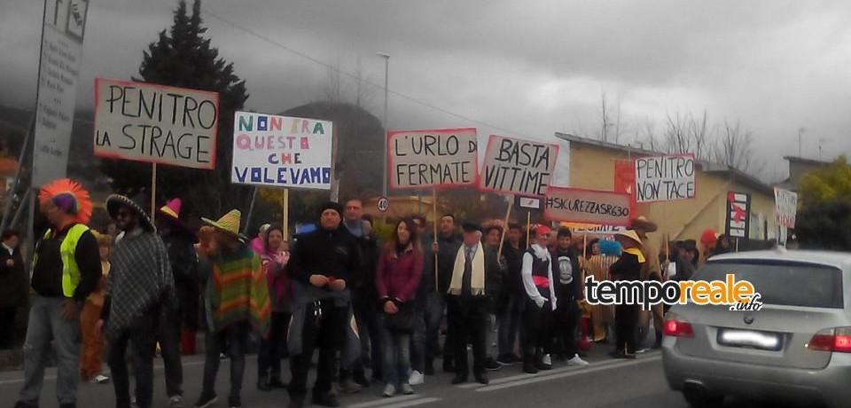 Formia / Anche a Carnevale non si placa la protesta dei residenti di Penitro