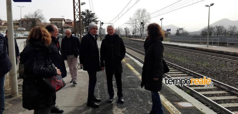 Ferentino / Sopralluogo alla stazione ferroviaria dei tecnici RFI