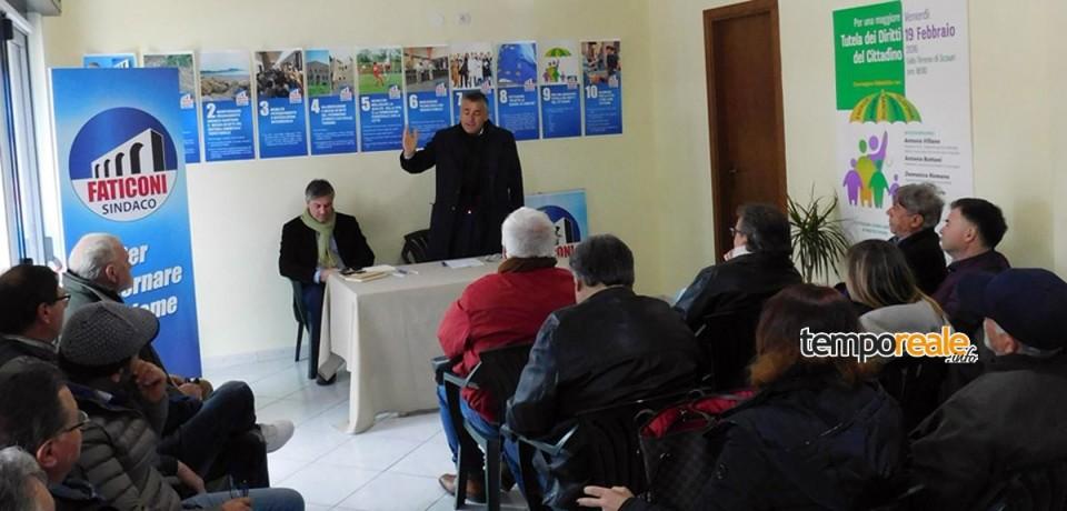 Minturno / Elezioni, Maurizio Faticoni presenta i suoi candidati al consiglio comunale