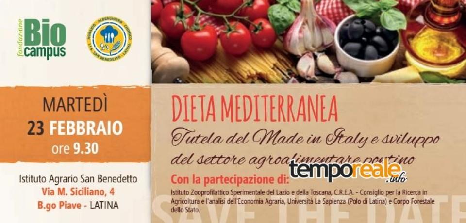 """Latina / Sviluppo agroalimentare, domani il convegno """"Dieta Mediterranea e tutela del Made in Italy"""""""