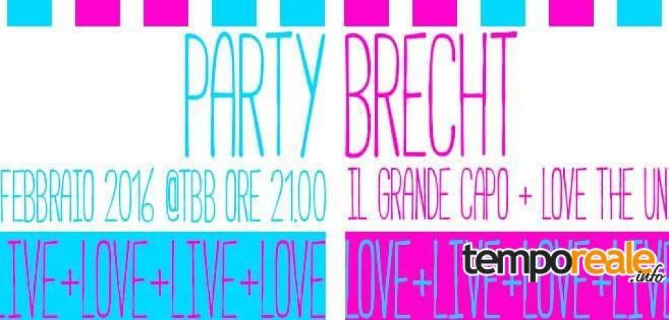 Formia / Party Brecht, a San Valentino la compagnia teatrale del Bertolt propone Love + Live Version