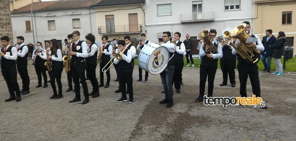 Aquino / Prima storica uscita della banda musicale della città