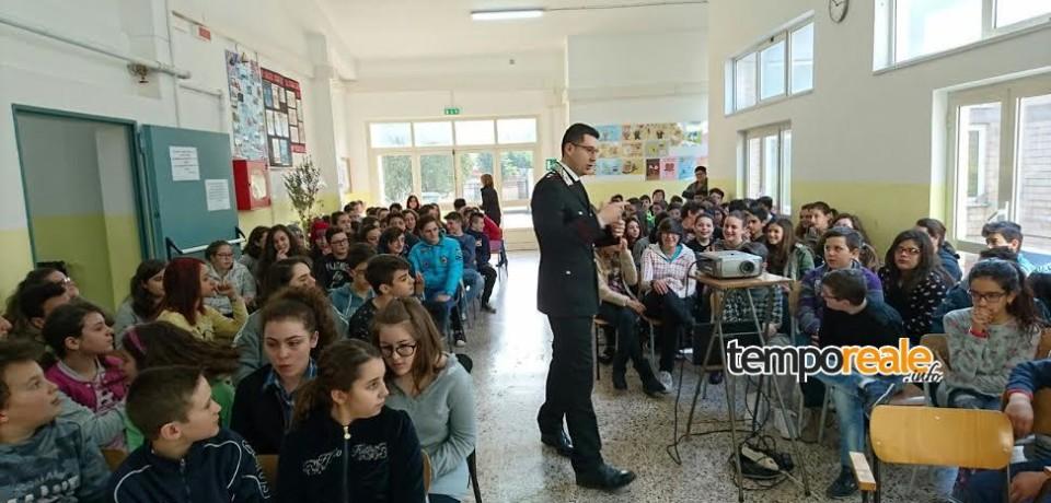 Cassino / Proseguono gli incontri degli studenti con l'Arma dei Carabinieri