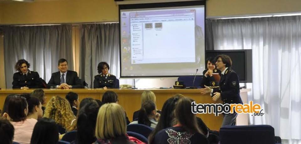 """Frosinone / """"La Polizia di Stato con le donne"""", questa mattina il primo incontro con gli studenti"""