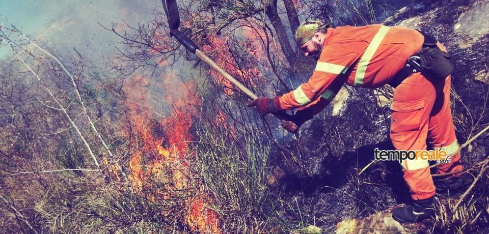 Incendi a Esperia e Castelnuovo Parano