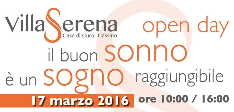 """Cassino / La clinica Villa Serena promuove l'Open Day """"Il buon sonno è un sogno raggiungibile"""""""