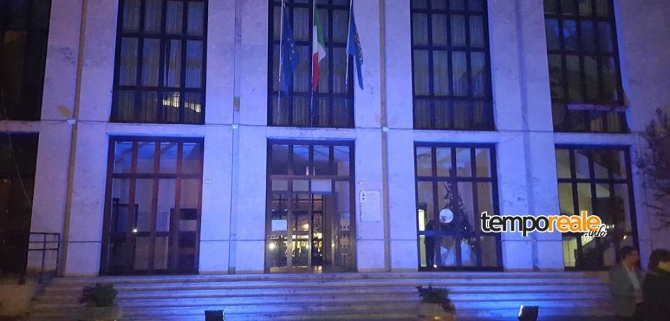 Cassino / Giornata mondiale dell'autismo: illuminata la facciata del municipio