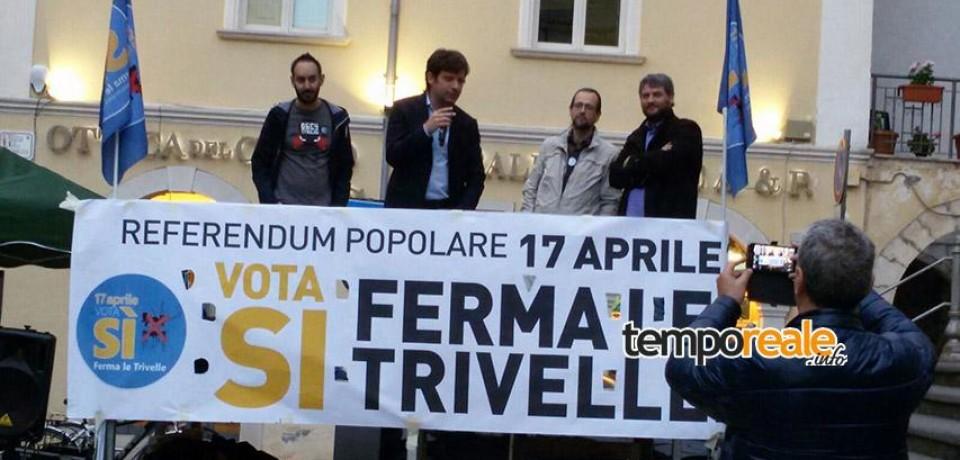 Fondi / Pippo Civati chiude la campagna referendaria del comitato Vota Sì – Ferma le Trivelle
