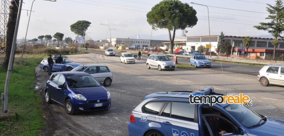 Frosinone / Ancora un posto di blocco della Polizia sull'Asse Attrezzato