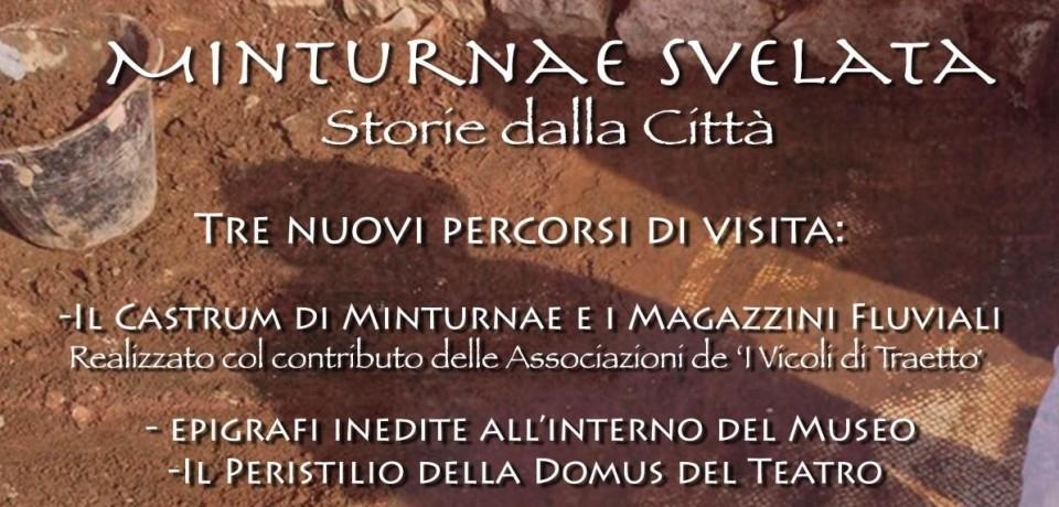 """Minturno / Domenica 5 giugno l'evento """"Minturnae svelata. Storie dalla città"""""""