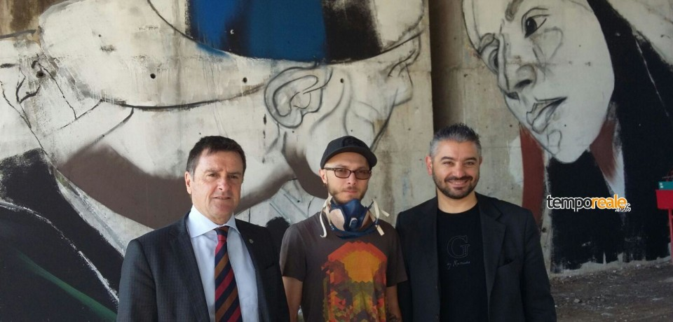 """Cassino / Progetto """"Quinto ponte"""", l'artista croato Lonac crea un murales per la città"""