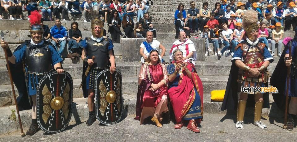 """Cassino / """"Ludi Italici"""", oltre 400 ragazzi al Teatro Romano per l'evento"""