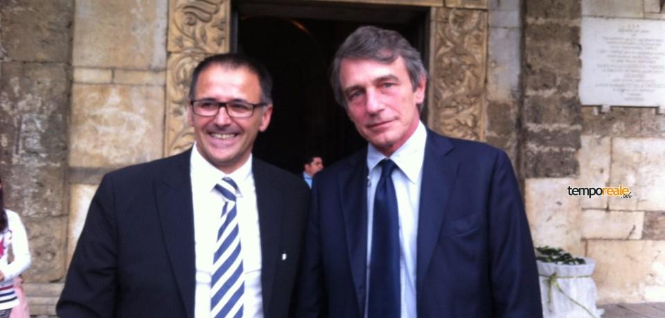 Aquino / David Sassoli in visita al Museo estasiato dal Sarcofago con quadrighe che andrà a Rio2016